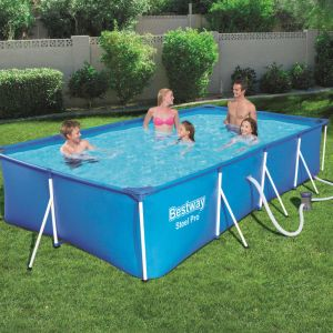 Bestway Ensemble de piscine rectangulaire Steel Pro 56424