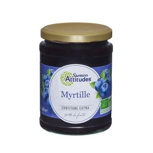 Saveurs attitudes Confiture extra de myrtille 600g