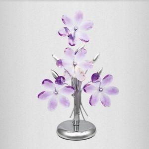 Globo Luminaire de table lampe éclairage chrome fleurs acryliques chambre à coucher