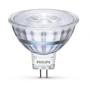 Philips 8718696523490 A +, ampoule LED, verre, 5 W, GU5.3, argent, 5,1 x 5,1 x 4,5 cm
