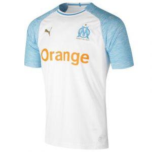 Puma Maillot Domicile Olympique de Marseille Replica pour Homme, Blanc/Bleu, Taille M |