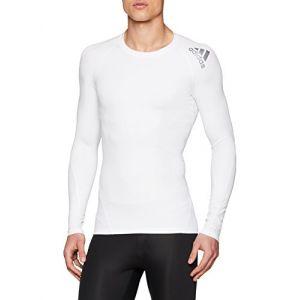 Adidas Alphaskin Sport Longsleeve Homme, White, FR : M