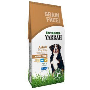 Yarrah Croquettes Bio sans céréales au poulet pour chien 2 kg