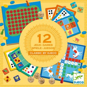 Djeco Coffret Classic Box : 12 Jeux de Société