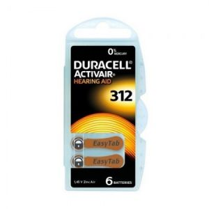 Duracell Piles Auditives Activair 312 - 1 plaquette
