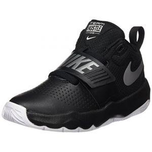 Nike Team Hustle D 8 (PS), Chaussures de Basketball garçon, Noir (Black/Metallic Silver-White 001), 35 EU