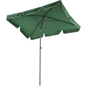 TecTake Parasol rectangulaire inclinable 200 cm x 125 cm x 235 cm en Aluminium Vert