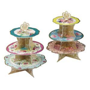 Talking Tables Support à cupcakes Thé entre copines 3 plateaux