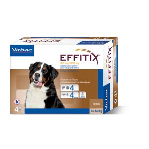 Virbac Effitix Spot On très grand chien 40-60 kg 4 pipettes