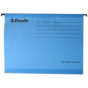 Esselte The Classic Collection Dossier suspendu Bleu A4 Lot de 25 (Import Royaume Uni)