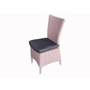 Hesperide 4 chaises de jardin Guacara en aluminium et rattan