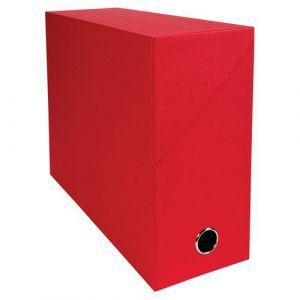 Exacompta Boîte de classement en toile cartonnée, pour 1000 feuilles A4 maximum (240 x 320mm), largeur de dos 120mm, couleurs assorties