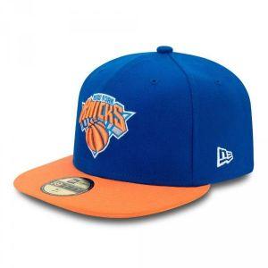A New Era Nba Basic York Knicks casquette bleu orange