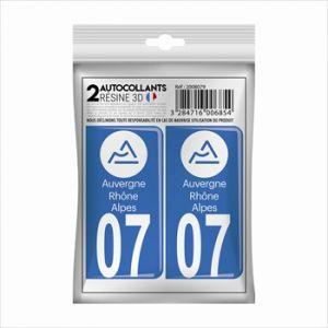 Cadox 2 Stickers En 3d Effet Carbone Département Ardèche 07