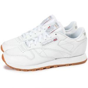 Reebok Cl LTHR, Sneaker Bas du Cou Femme, Blanc (White/Gum), 36 EU