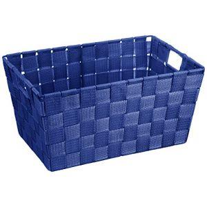 Wenko 20679100 Adria Corbeille Salle de Bain Bleu