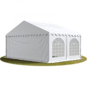 Intent24 TOOLPORT Tente Barnum de Réception 5x4 m ignifugee PREMIUM Bâches Amovibles PVC 500 g/m² blanc Cadre de Sol Jardin.FR
