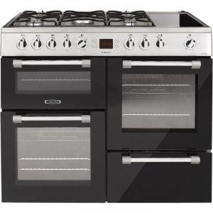 Leisure CK100F320 - Piano de cuisson mixte 5 foyers gaz dont 1 wok + zone de maintien au chaud