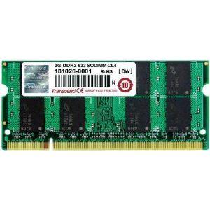 Transcend TS256MSQ64V5U - Barrette mémoire 2 Go DDR2 533 MHz CL4 200 broches
