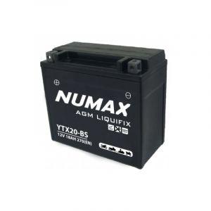 Numax Batterie moto Premium AGM avec pack acide YTX20-BS 12V 18Ah 270A