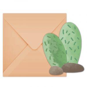 Procos 6 invitations et 6 enveloppes - Lama