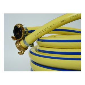 Alfaflex Tuyau eau Irriflex PVC, jaune 1/2avec raccord 25m - TRICOFLEX