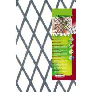 Nortene Treillis Extensible en PVC 1 x 2 m Gris TREILLIFLEX