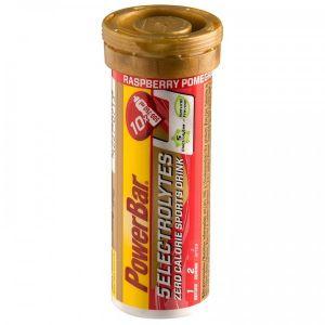 Powerbar 5 Electrolytes - 12x10 comprimés framboise-grenade