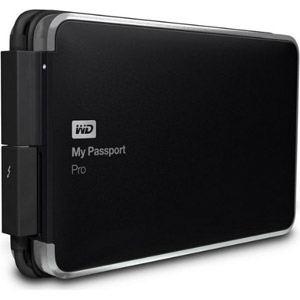 Western Digital WDBRNB0040DBK - Disque dur externe My Passport Pro 4 To RAID Thunderbolt