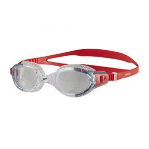 Speedo Futura Biofuse Flexiseal Lunette Mixte Adulte, Lava Red/Clear, Taille Unique