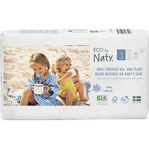 Eco by Naty Lot de 2 paquets de couches Taille 3 Midi 4-9 kg 50 pcs