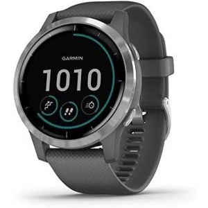 Garmin VIVOACTIVE 4 45mm SHADOW GREY/STAINLESS - Montre sport GPS