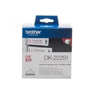 Brother DK-22251 - Ruban papier continu 62mm x 15.24m rouge et noir