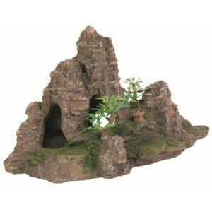 Trixie Rocher escalier avec plante, pour aquarium, 22 cm