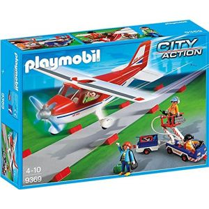 Playmobil 9369 - City Action : Avion rouge