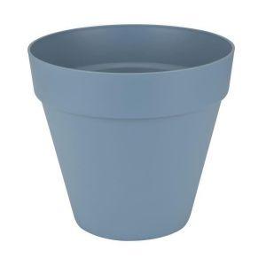 Loft URBAN Pot de fleur rond - 20 cm - Bleu vintage - Livré avec réservoir d'eau - Fabriqué en plastique - Facile à nettoyer - Résiste aux chocs
