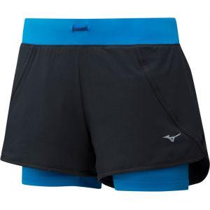 Mizuno Mujin 4.5 - Short running Femme - bleu/noir L Pantalons course à pied