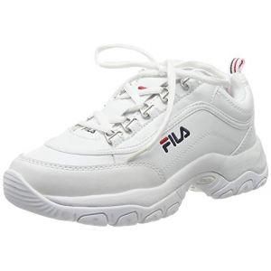 FILA Strada Low WMN, Baskets Hautes Femme, Blanc