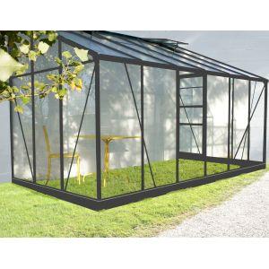 Chalet et Jardin Serre de jardin adossée Solarium 7,22m² avec embase