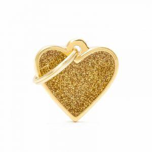 Myfamily Médaille shine petit cœur doré