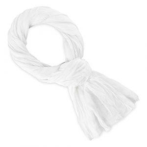 Allée du foulard Echarpe Chèche coton blanc uni blanc - Taille Unique