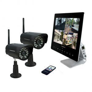 Thomson 512330 - Pack vidéosurveillance DVR HD 720P écran 9'' + 2 caméras HD