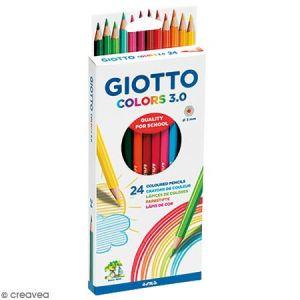 Giotto Etui de 24 crayons de couleurs Colors 3.0