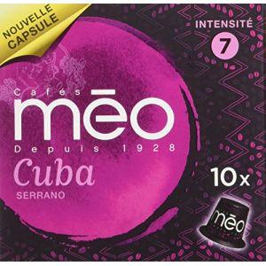 Méo 10 capsules Grand cru Cuba Serrano compatibles Nespresso