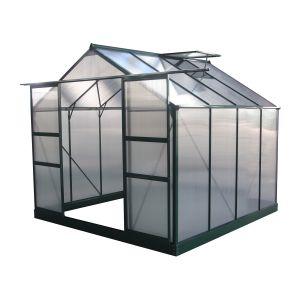 Viva Green Dahlia - Serre jardin polycarbonate 6,15 m² (2,48 x 2,48 x 2,26 m)