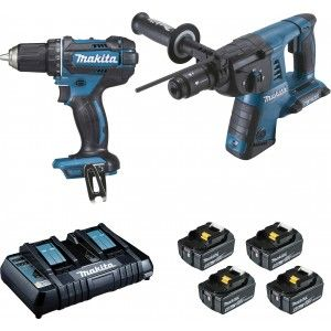 Makita DLX2138PTJ - Ensemble de 2 machines (DDF482 + DHR264)