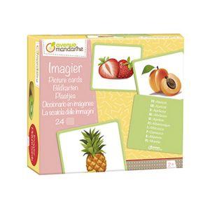 Avenue mandarine Imagier Fruits 24 cartes