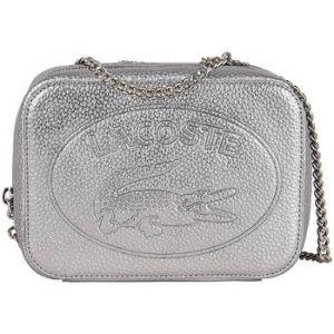 Lacoste Croco Crew Crossover Bag silver