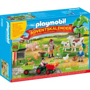 Playmobil Calendrier de l'Avent animaux de ferme 70189