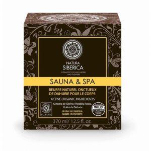 Natura siberica Beurre naturel onctueux de Dahurie pour corps - Sauna & SPA - Le pot de 370ml